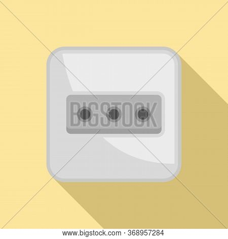 Power Socket Icon. Flat Illustration Of Power Socket Vector Icon For Web Design
