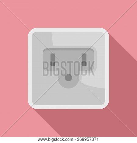 Type B Power Socket Icon. Flat Illustration Of Type B Power Socket Vector Icon For Web Design