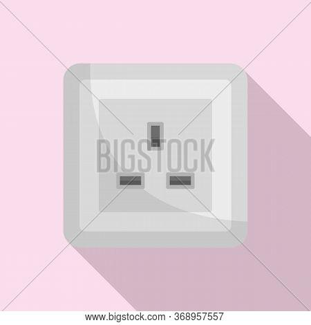Type G Power Socket Icon. Flat Illustration Of Type G Power Socket Vector Icon For Web Design