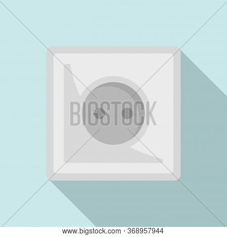 Type C Power Socket Icon. Flat Illustration Of Type C Power Socket Vector Icon For Web Design