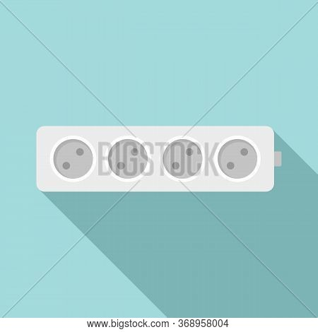 Electric Extension Cord Icon. Flat Illustration Of Electric Extension Cord Vector Icon For Web Desig