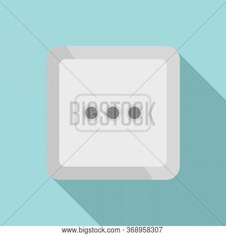 Type L Power Socket Icon. Flat Illustration Of Type L Power Socket Vector Icon For Web Design
