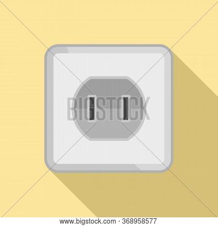 Element Power Socket Icon. Flat Illustration Of Element Power Socket Vector Icon For Web Design