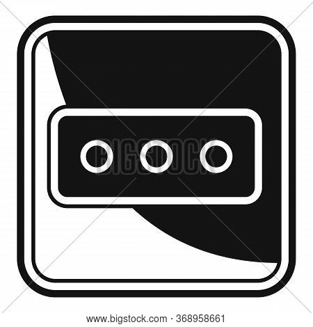 Power Socket Icon. Simple Illustration Of Power Socket Vector Icon For Web Design Isolated On White