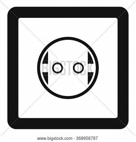 European Power Socket Icon. Simple Illustration Of European Power Socket Vector Icon For Web Design