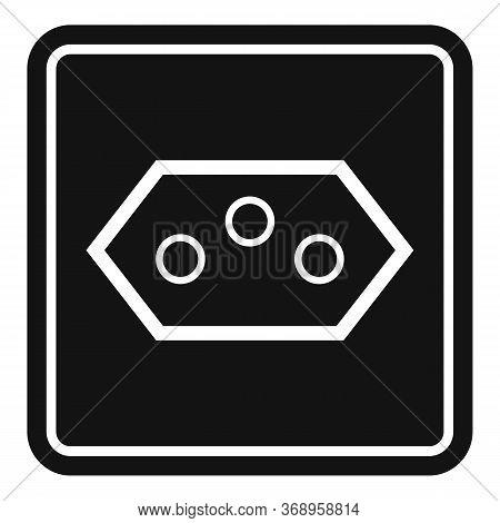 Type J Power Socket Icon. Simple Illustration Of Type J Power Socket Vector Icon For Web Design Isol