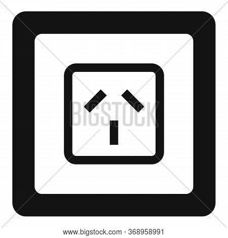 Type I Power Socket Icon. Simple Illustration Of Type I Power Socket Vector Icon For Web Design Isol