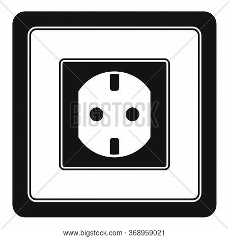 Type F Power Socket Icon. Simple Illustration Of Type F Power Socket Vector Icon For Web Design Isol