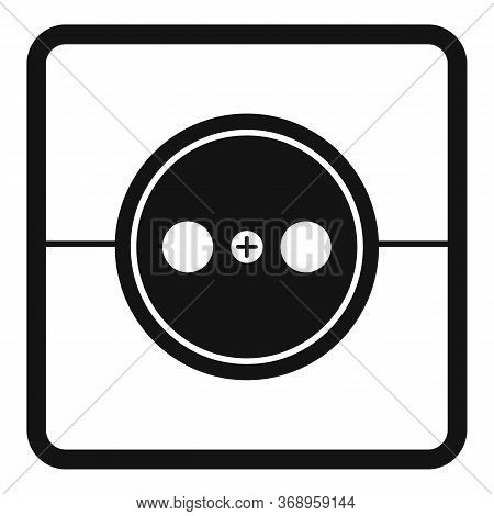 Home Power Socket Icon. Simple Illustration Of Home Power Socket Vector Icon For Web Design Isolated