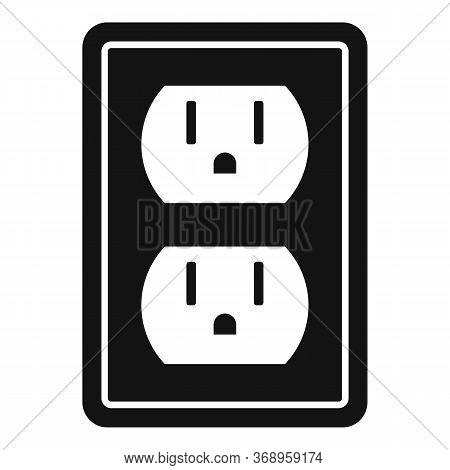 Double Power Socket Icon. Simple Illustration Of Double Power Socket Vector Icon For Web Design Isol