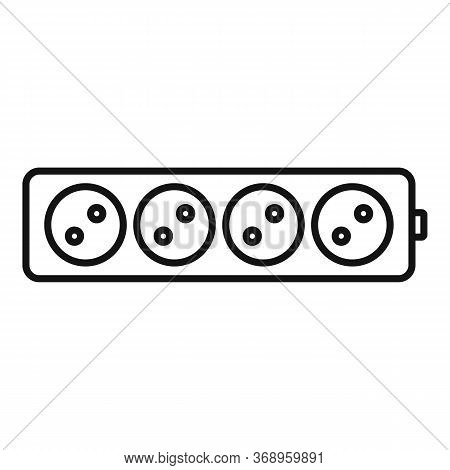 Electric Extension Cord Icon. Outline Electric Extension Cord Vector Icon For Web Design Isolated On