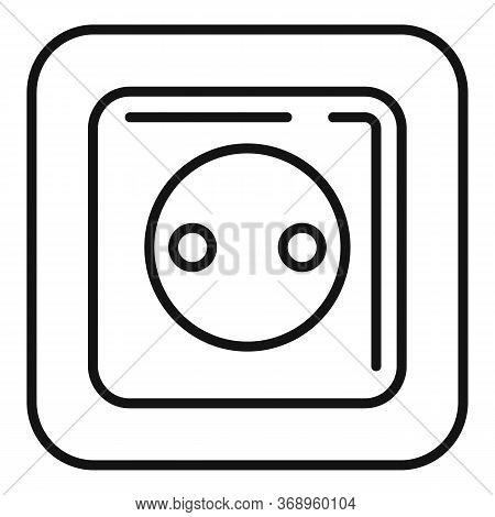 Belgium Power Socket Icon. Outline Belgium Power Socket Vector Icon For Web Design Isolated On White