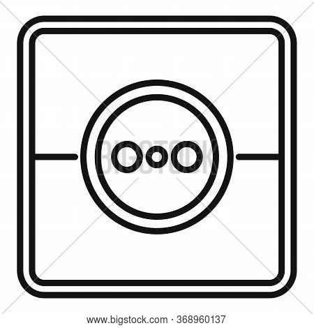 Home Power Socket Icon. Outline Home Power Socket Vector Icon For Web Design Isolated On White Backg