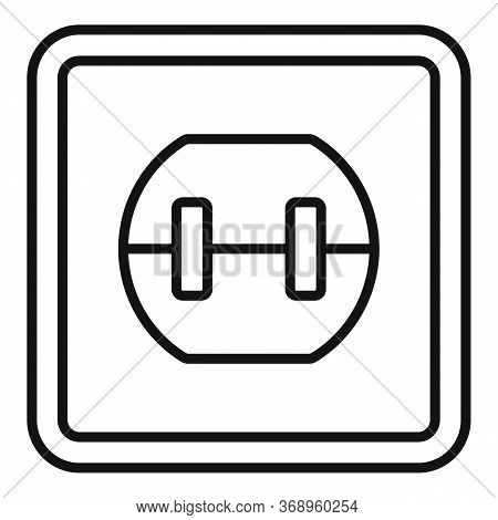 Element Power Socket Icon. Outline Element Power Socket Vector Icon For Web Design Isolated On White