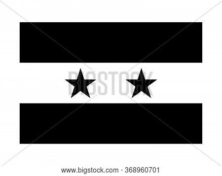 Syria Syrian Flag Black And White. Country National Emblem Banner. Monochrome Grayscale Eps Vector F