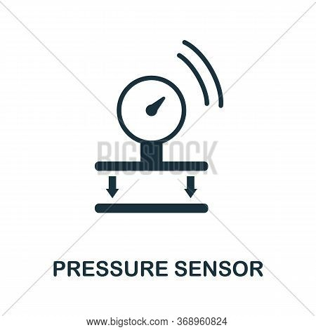 Pressure Sensor Icon. Simple Element From Sensors Icons Collection. Creative Pressure Sensor Icon Ui