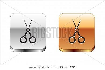 Black Scissors Hairdresser Icon Isolated On White Background. Hairdresser, Fashion Salon And Barber