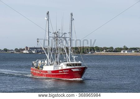 New Bedford, Massachusetts, Usa - May 19, 2020: Commercial Fishing Boat Ashton Matthew, Hailing Port