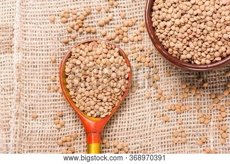 Lentils Close-up. Green Lentils. Delicious Lentils. Lentil Seeds