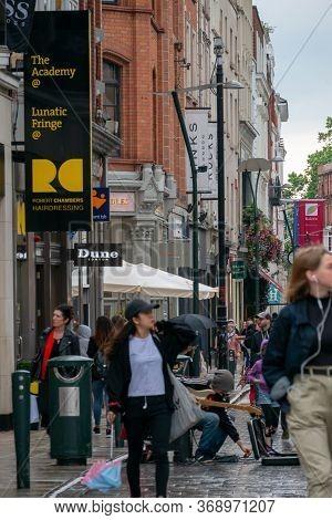 Dublin, Ireland - 30 July 2019: Stephen's Green Shopping Centre, Grafton Street, The Most Prestigiou