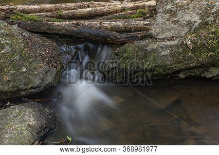 Bily Halstrov Creek In West Bohemia In Spring Sunny Fresh Day
