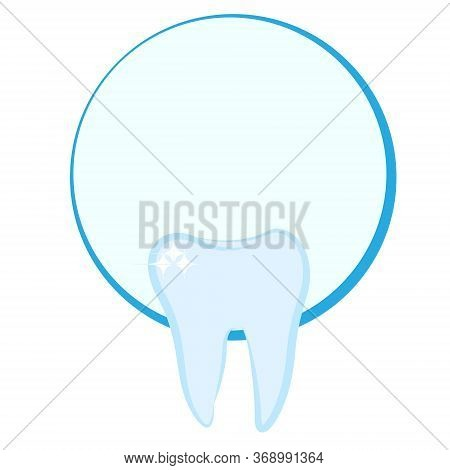 Tooth Shaped Logo For A Dentist Conpany Vector Illustration Isolated