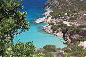 Mirabello gulf at Crete island in Greece near Aghios Nikolaos city poster
