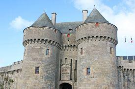 Gatehouse In Guerande City Walls In France