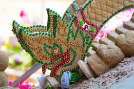 Naga Sand Pagoda Was Carefully Built, And Beautifully Decorated In Songkran Festival