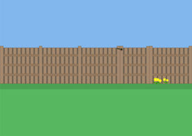 Garden fence with gate