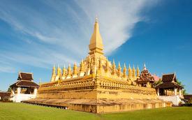 Pha That Luang Monument, Vientiane, Laos.