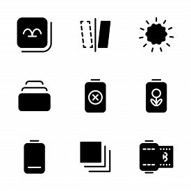 Photo Editor Icon Set Include Gallery, Device, Photos, Set, Camera, Mirror, Option, Day, Light, Opti
