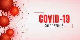 Coronavirus Medical Science Banner. Covid 19 Cover For Medical Design. Realistic 3d Pathogen Organis