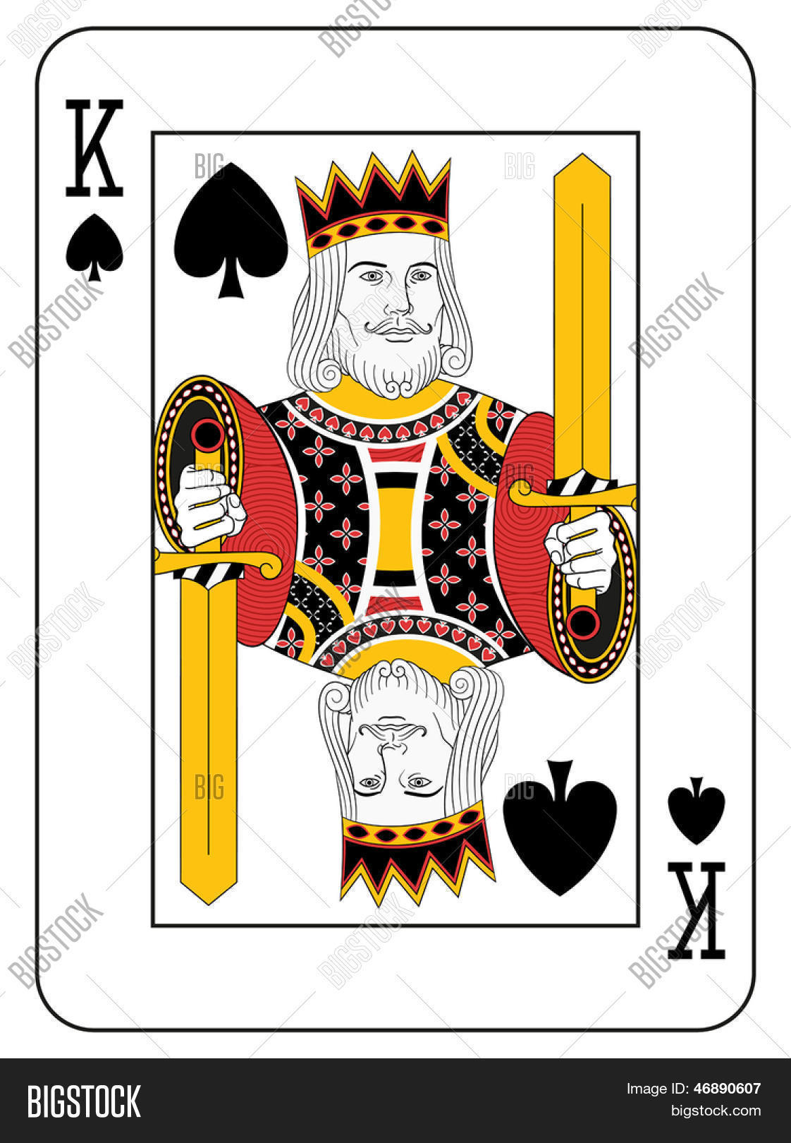 King Spades Original Vector Photo Free Trial Bigstock