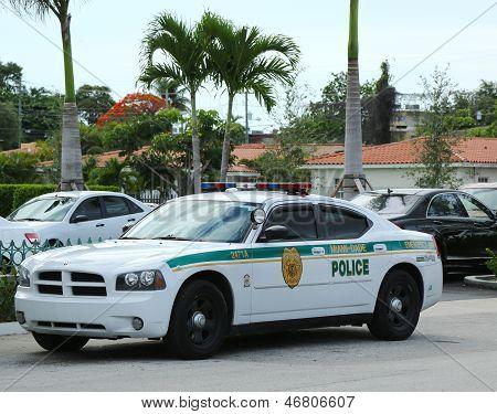 Miami - Dade police department car in South Miami