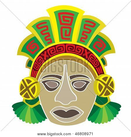 Mask in style of the Maya.