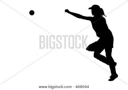 a fastball player throwing the ball poster