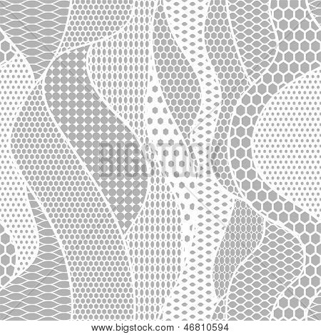White Lace Vector Fabric Seamless Pattern