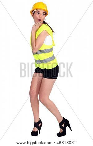 Sexy traffic guard