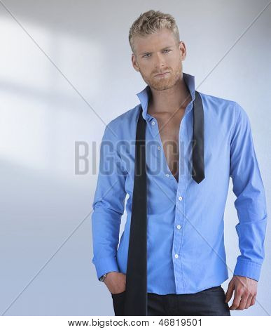 Portrait of a sexy handsome young professional man