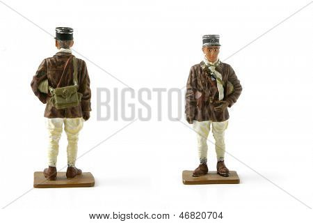 Painted toy soldier