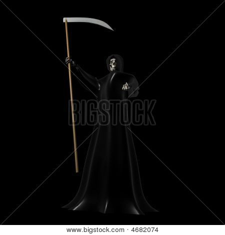 Grim Reaper On Black