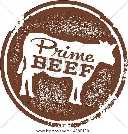 Prime Beef Menu Design Stamp