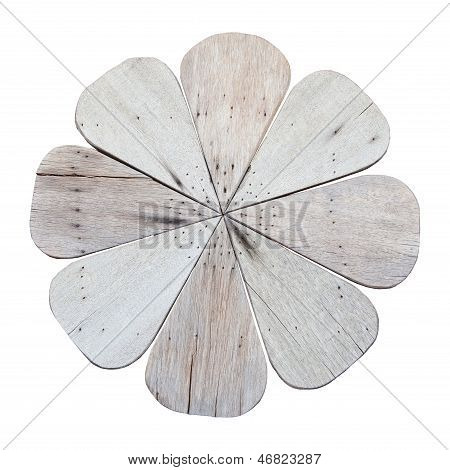 Wood Flower Isolated