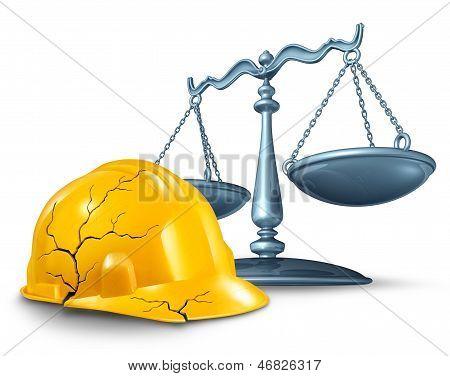 Lei de ferimento de construção