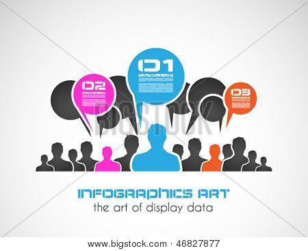Infográfico de estilo original com formas de homem, para fins de classificação. A ser usado para apresentações de Secretaria ou