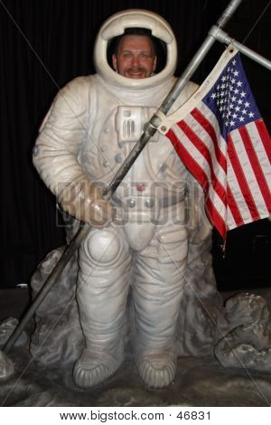 Happy Man In Carnival Space Suit