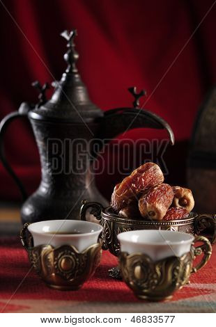 An antique, arabic coffee set.