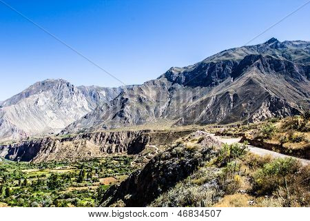 Peru Cotahuasi canyon. The wolds deepest canyon. poster