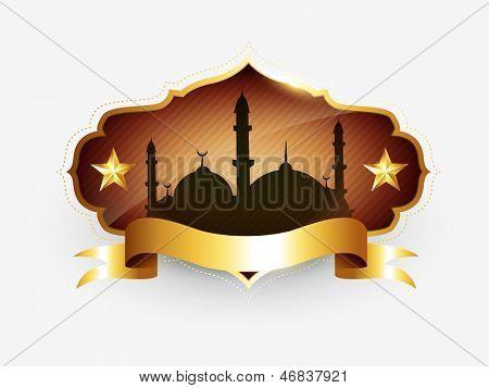 vector islamic golden label design